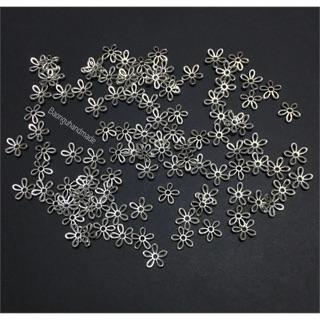 10 miếng kim loại hình hoa trang trí resin
