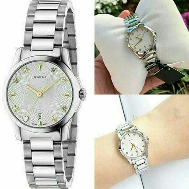นาฬิกาแบรนด์ GUCCI  G-Timeless Silver Dial Stainless Steel Ladies Watch   สั่งซื้อแอด🆔Line: aisha_tookta