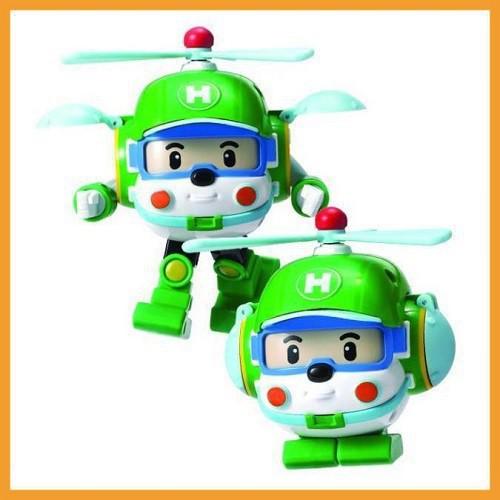 BỘ 4 đồ chơi biến hình biệt đội xe robocar Poli 2 trong 1