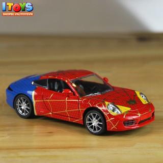 Xe ô tô Spider-Man dài 16.5cm, mô hình xe ô tô Spider-Man ITOYS đồ chơi trẻ em