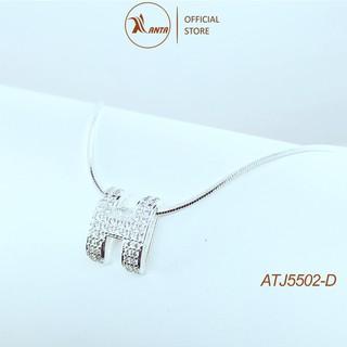 Dây chuyền bạc Ý 925 mặt chữ H cao cấp đính đá pha lê sang trọng ANTA Jewlery - ATJ5502-D thumbnail