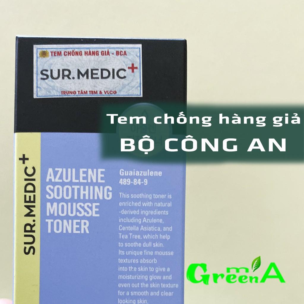 Toner Sur Medic Nước Cân Bằng Dạng Bọt Mịn Làm Dịu Da Sur.Medic+ Azulene Soothing Mousse Toner 110ml [CHÍNH HÃNG]