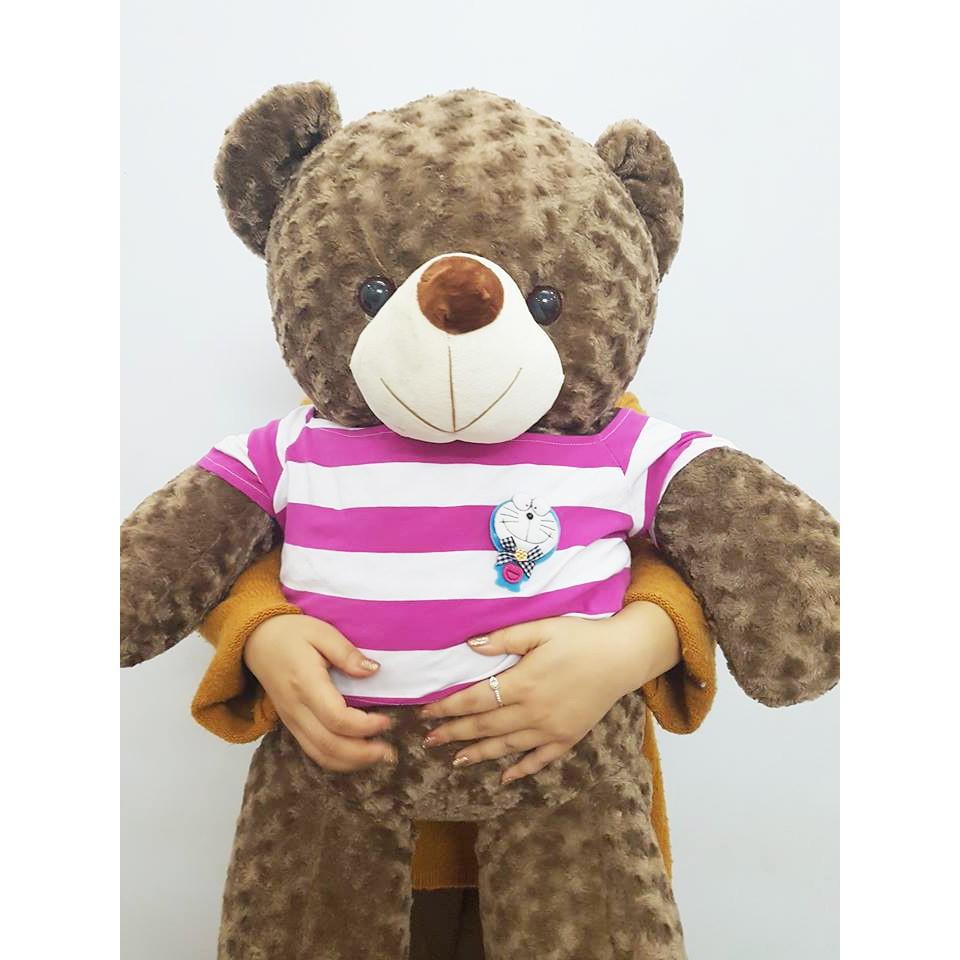 Gấu Bông Teddy Cao Cấp Khổ Vải 1m2 Cao 1m Xám Khói