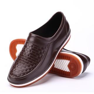 [Mã FASHIONRNK giảm 10K đơn 50K] Giày Lười Nam Công Sở, Đi Mưa Chống Nước, Giày Cao Su Non thumbnail