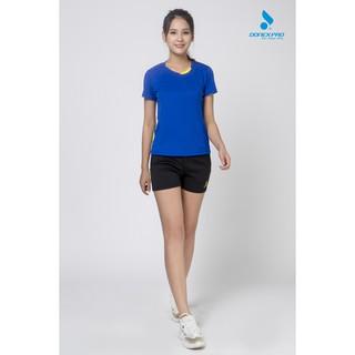 Áo thun thể thao nữ DONEXPRO 3396 màu xanh bích thumbnail