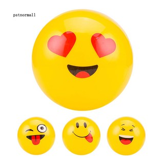 PST_Emoji Pack Inflatable Balls for Beach Pool Toys Kids Gift Yellow Party Decor