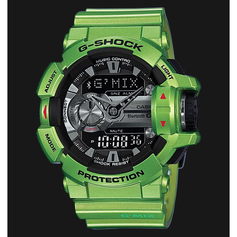 Đồng hồ nam Casio G-SHOCK GBA-400-3BDR Chính Hãng - Chống nước 200m - Dây Xanh bảo h