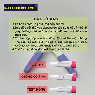Que thử thai bút thử thai test nhanh độ chính xác cao của Goldentime 3