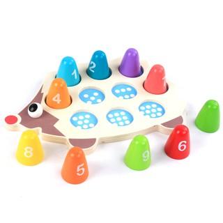 Đồ chơi nhím gỗ cho bé học đếm