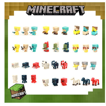 Minecraft Mc Game Peripheral Sword Draft Miner's Lamp Second Generation Plastic Pendant Keychain 36 Plastic Dolls