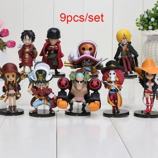 Mô Hình Nhân Vật One Piece Team Luffy Chibi