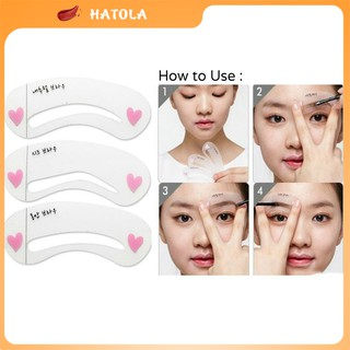 Set 3 khuôn mày kẻ lông mày phong cách Hàn Quốc Hatola thumbnail