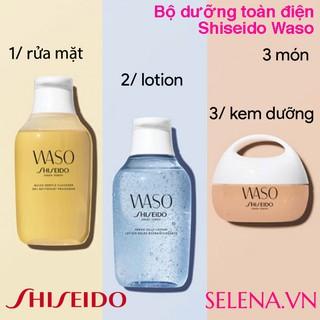 Bộ chăm sóc toàn điện cho da đẹp mịn màng Shiseido Waso (3 món)