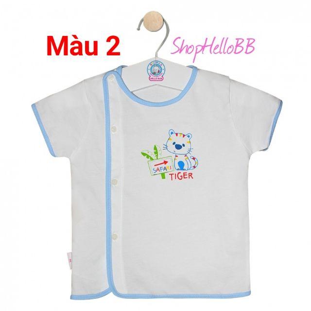 5 viền màu- Size M L XL bé 3-7kg ÁO BÁC SĨ HELLO B&B tay ngắn trắng