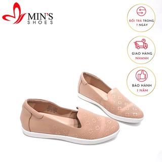 Min's Shoes - Giày Lười Da Thật GL44 KEM