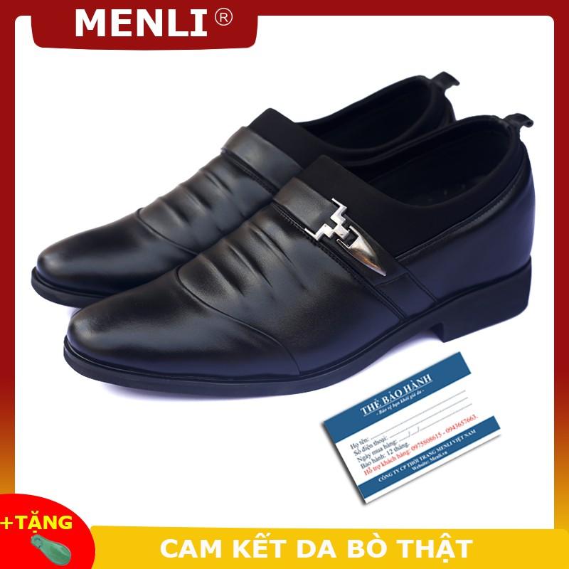 Giày da thật công sở, đế tăng chiều cao 6,5cm - GL99 tăng cao