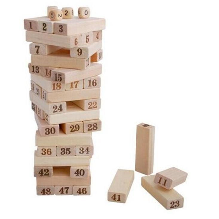 Combo 2 bộ đồ chơi rút gỗ loại lớn 48 miếng
