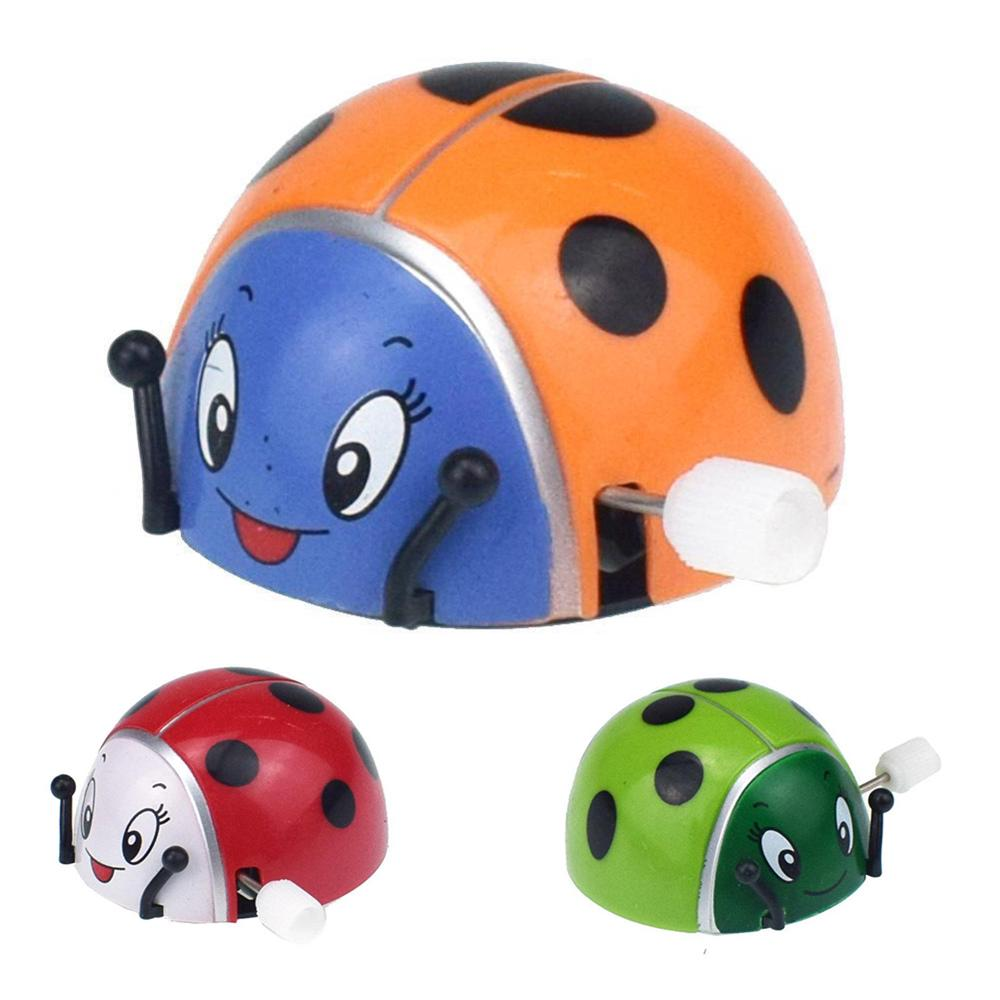 Kids Ladybug Chain Clockwork Wind-up Toy Pretend Play Gift