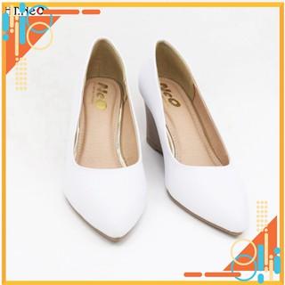 Giày nữ đế xuồng-giày da cao cấp HT.NEO da bò thật 100% siêu sang kết hợp đế xuồng cao đến 7 phân cực sang (CS69) thumbnail
