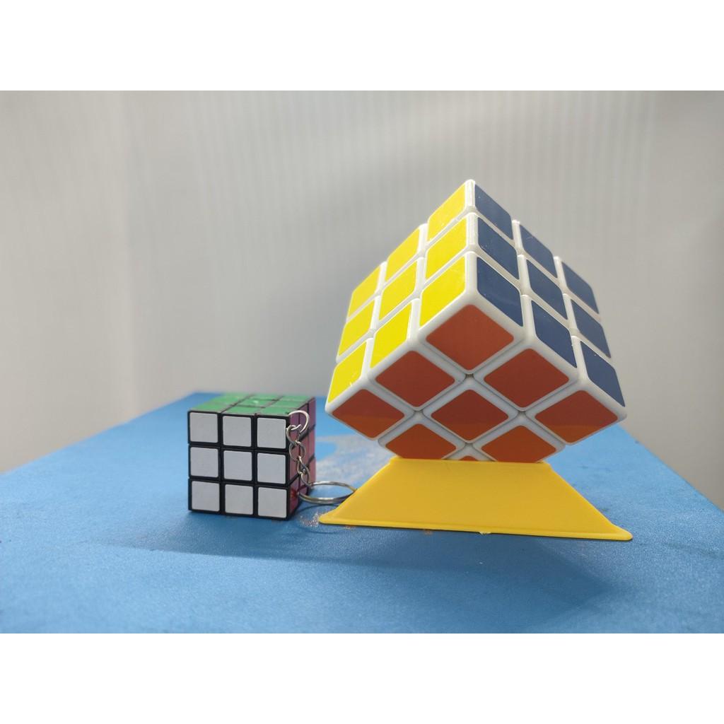 Đồ chơi Rubik 3x3x3 – Rubik Bẻ Góc Cực Tốt – Trơn Mượt – Nhanh ( Bản Cao Cấp)- tặng kèm 1 móc chìa khóa hình rubik