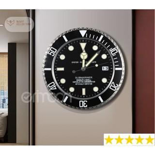Đồng hồ treo tường nghệ thuật Luxury BlackMan DecorHome
