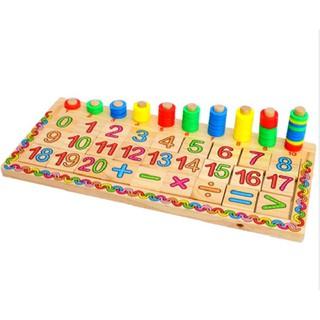 Bảng Số Montessori Cọc Đếm Và Số Cho Bé Học Toán