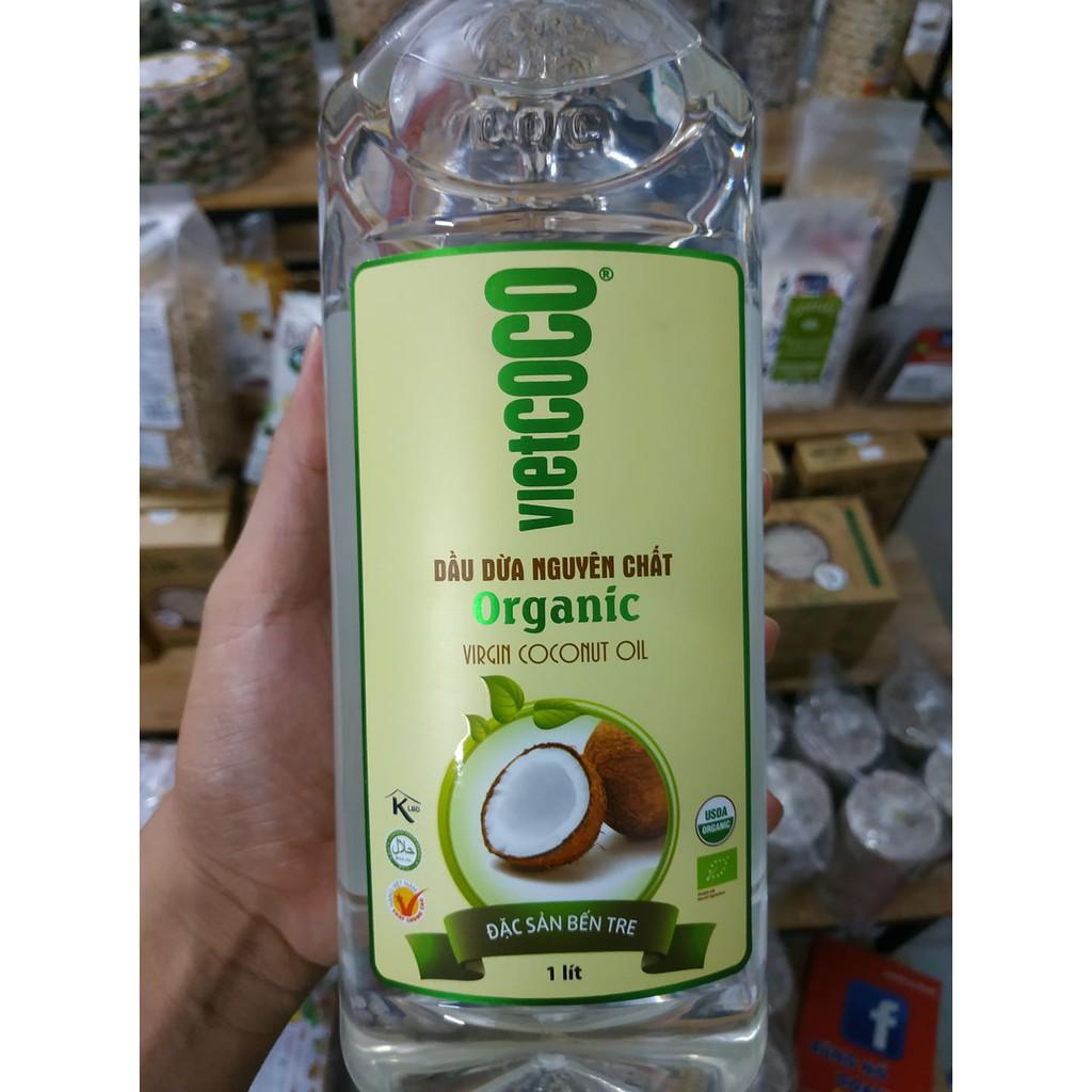 Dầu dừa nguyên chất hữu cơ - organic Vietcoco