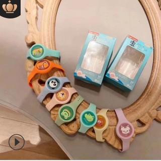 Đồng hồ chống muỗi đeo tay silicon tinh dầu phát sáng cho bé