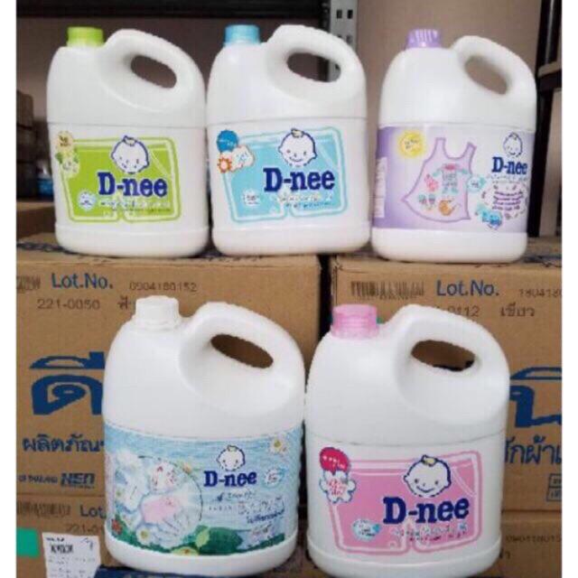 Nước giặt xả trẻ em D-nee thai land can 3