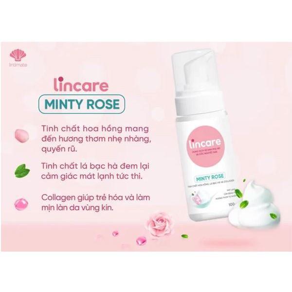 Lincare Minty Rose - Bọt vệ sinh hàng ngày dành cho phụ nữ