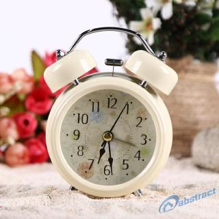 AB Happy Home Fashion Number/English Retro Double Bell Desk Table Alarm Clock
