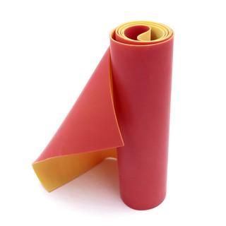 (Dankung – 0.8mm) Cuộn 1m thun Dankung 2 lớp dày 0.8mm (Màu Đỏ Vàng)