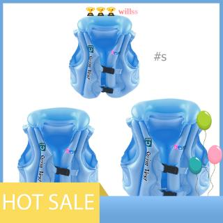 [willss] Baby Kids Safety Float Inflatable Swim Vest Life Jaet Swimming Aid Vest R1BO
