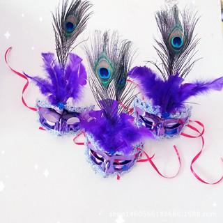 mặt nạ hóa trang lông vũ ( có ảnh thật ) Hàng nhập khẩu