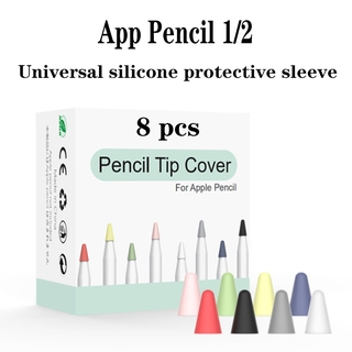 2-8pcs Apple Pencil 1st 2nd Soft Silicone Protective Cap Touchscreen Stylus Pen Case Cover Anti-slip Ipad