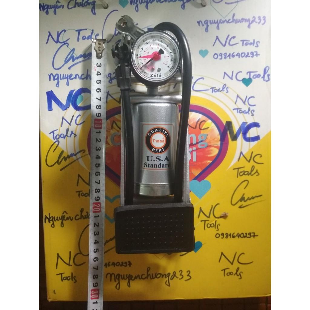 Bơm đạp chân cao cấp 1 ống USA STANDARD - BƠM XE ĐẠP, XE MÁY (Hơi cực mạnh)  chính hãng 114,000đ