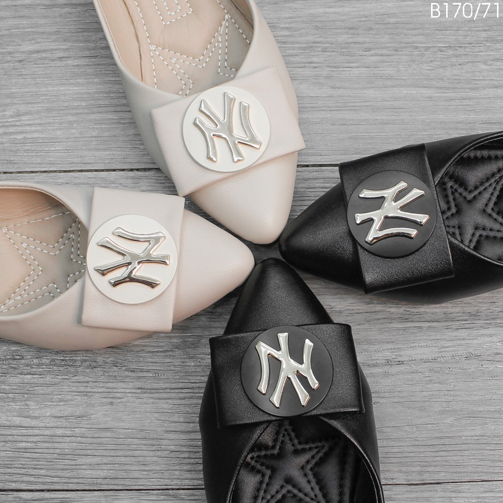 (Xả Hàng)  - Giày Bệt Nữ, Búp Bê Mũi Nhọn Nơ Xinh - Chất Da Mờ Bao Mềm B158/B159/B170/B171
