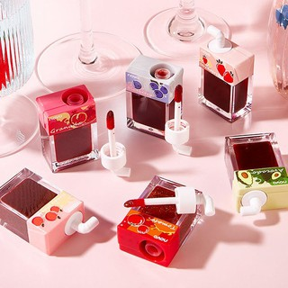 Novo Fruits Liptint Liquid Lip Gloss 6 colors Waterproof Long Lasting Lips Makeup Cosmetic Beauty