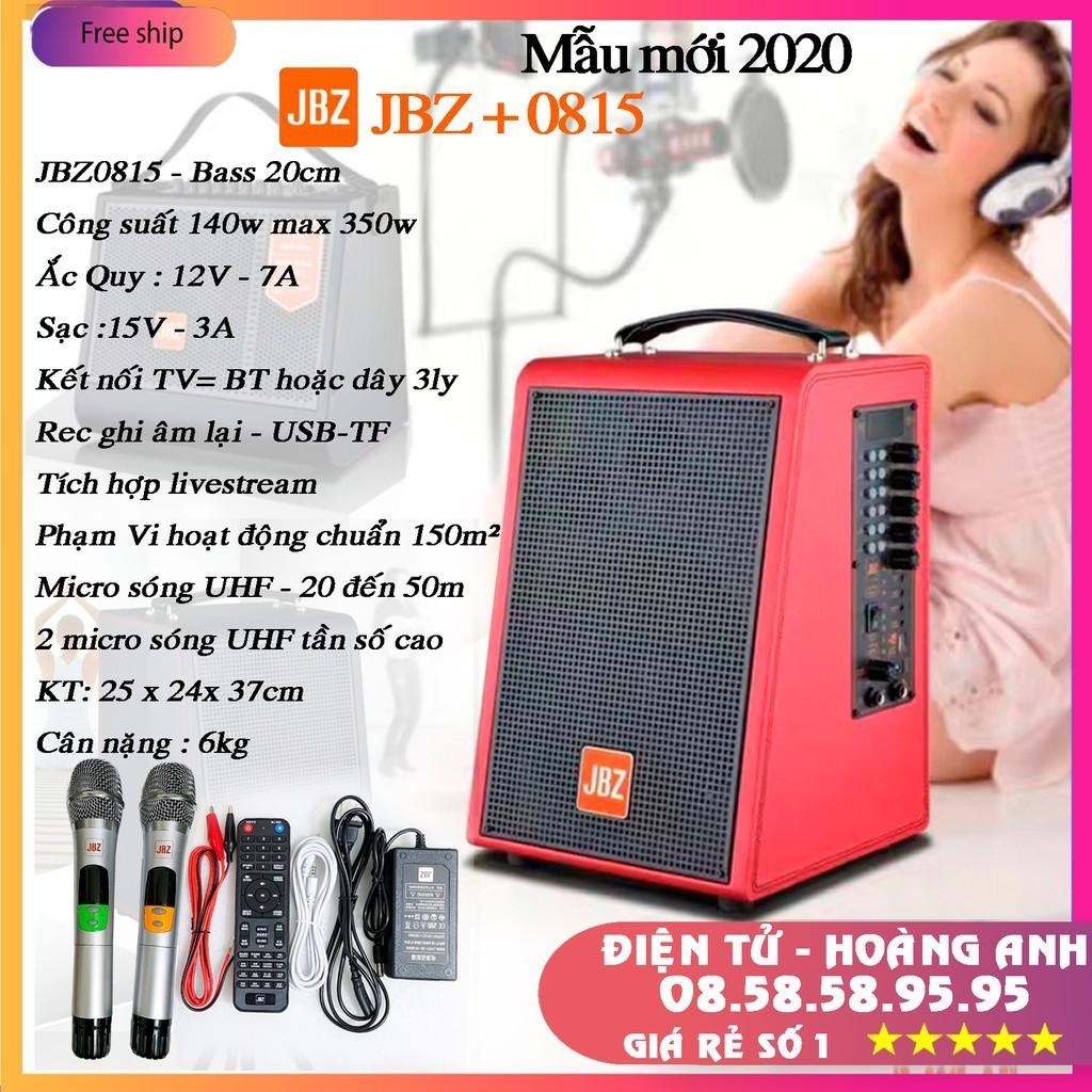 "Loa JBZ 0815 / 0816 / 0616 / 0615 ""loa kéo mini"" tích hợp karaoke livestream thu âm bass trầm cực hay"