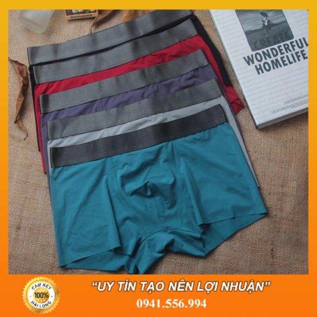 Bộ 10 Quần Lót Nam Vải Lụa Sữa Cao Cấp - Boxer Nam