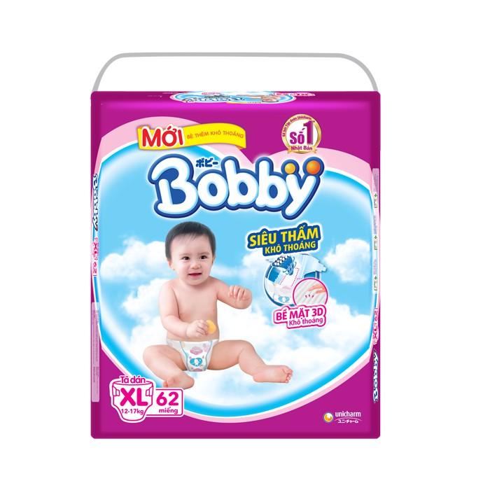 Tã - Bỉm dán Bobby siêu mỏng XL62 (12-17kg)