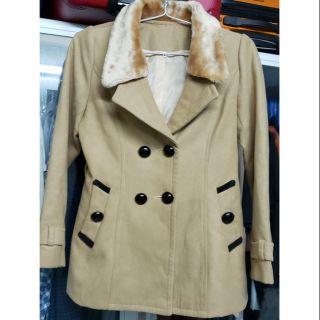 [Đã qua sử dụng] Áo khoác dạ 2 lớp, màu nâu như hình