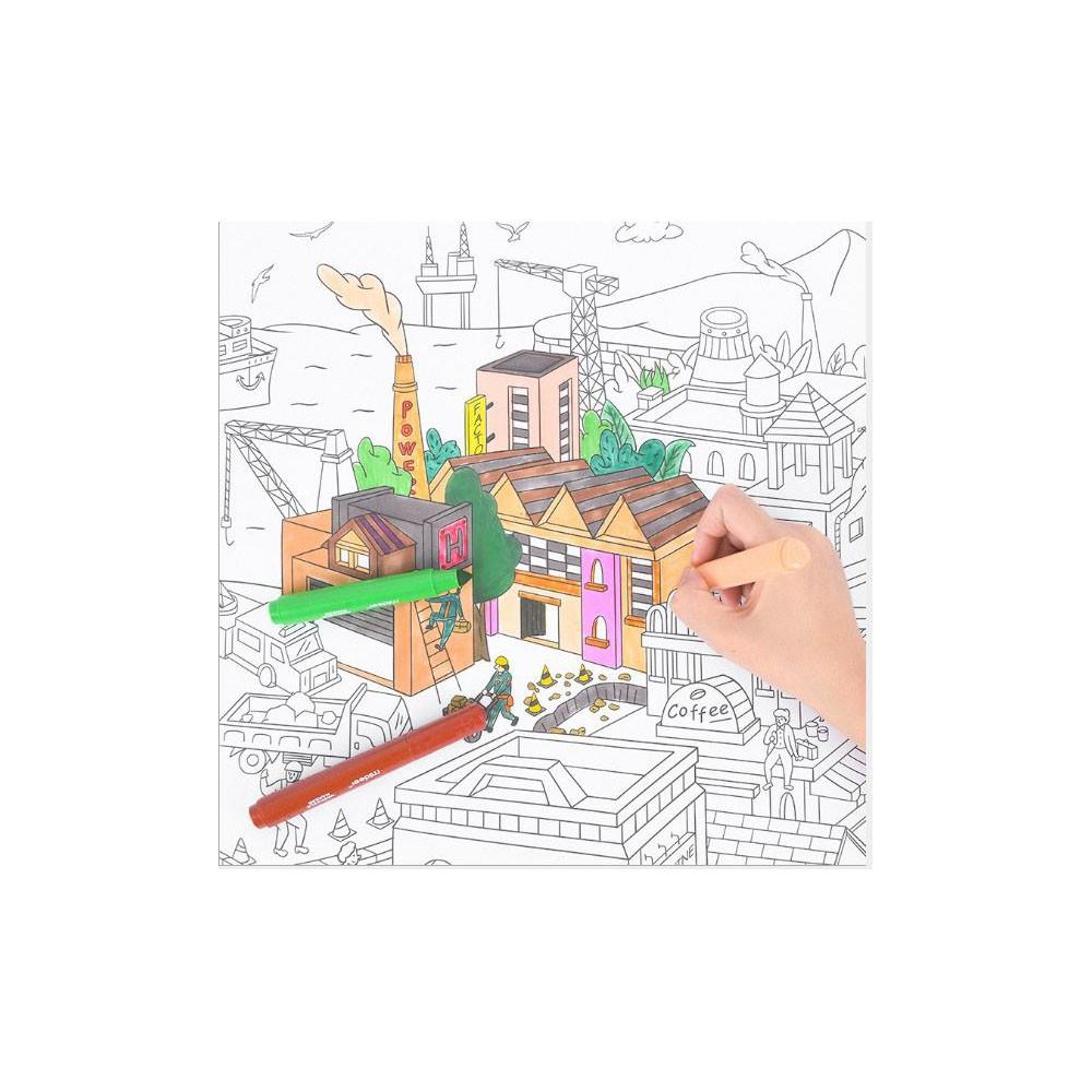 Đồ chơi tô màu✨freeship✨Cuộn giấy tô màu khổng lồ
