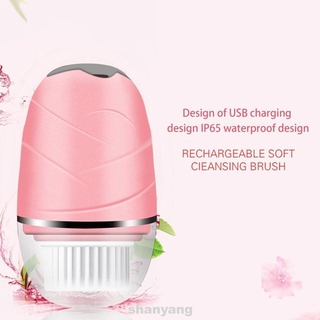 3 In 1 Facial Cleansing Brush Waterproof Soft Face Cleanser Rotary Rechargeable Washing