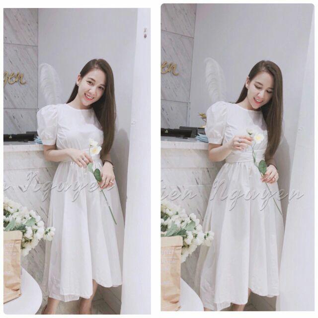 🔴 Váy beautiful in white