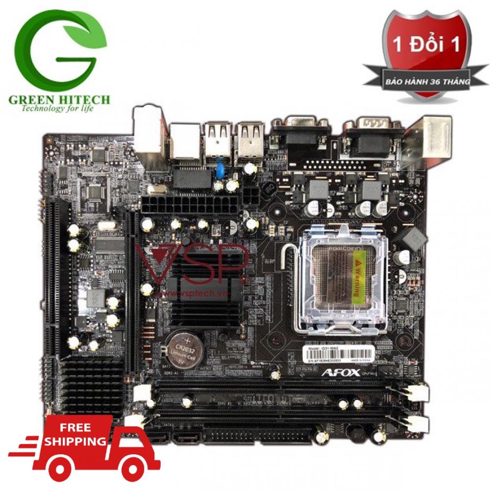 Bo mạch chủ - MAINBOARD AFOX G31 - Main chính hãng Bh 36 tháng