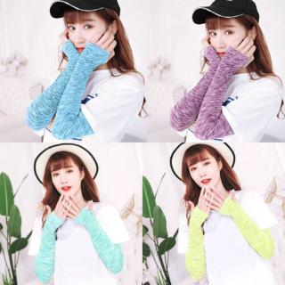Fashion Unisex Leisure Bicycle Arm Warm Hand Sock Ice Silk Sun UV Arm Protective Case All-match Breathable Sunscreen Sleeves thumbnail
