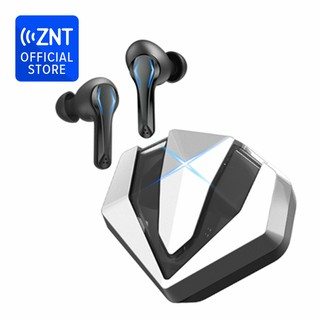 [NEW] ZNT GamePods MAX Silver GAMING Wireless Bluetooth Earphone Headset with Mic / Waterproof IPX5