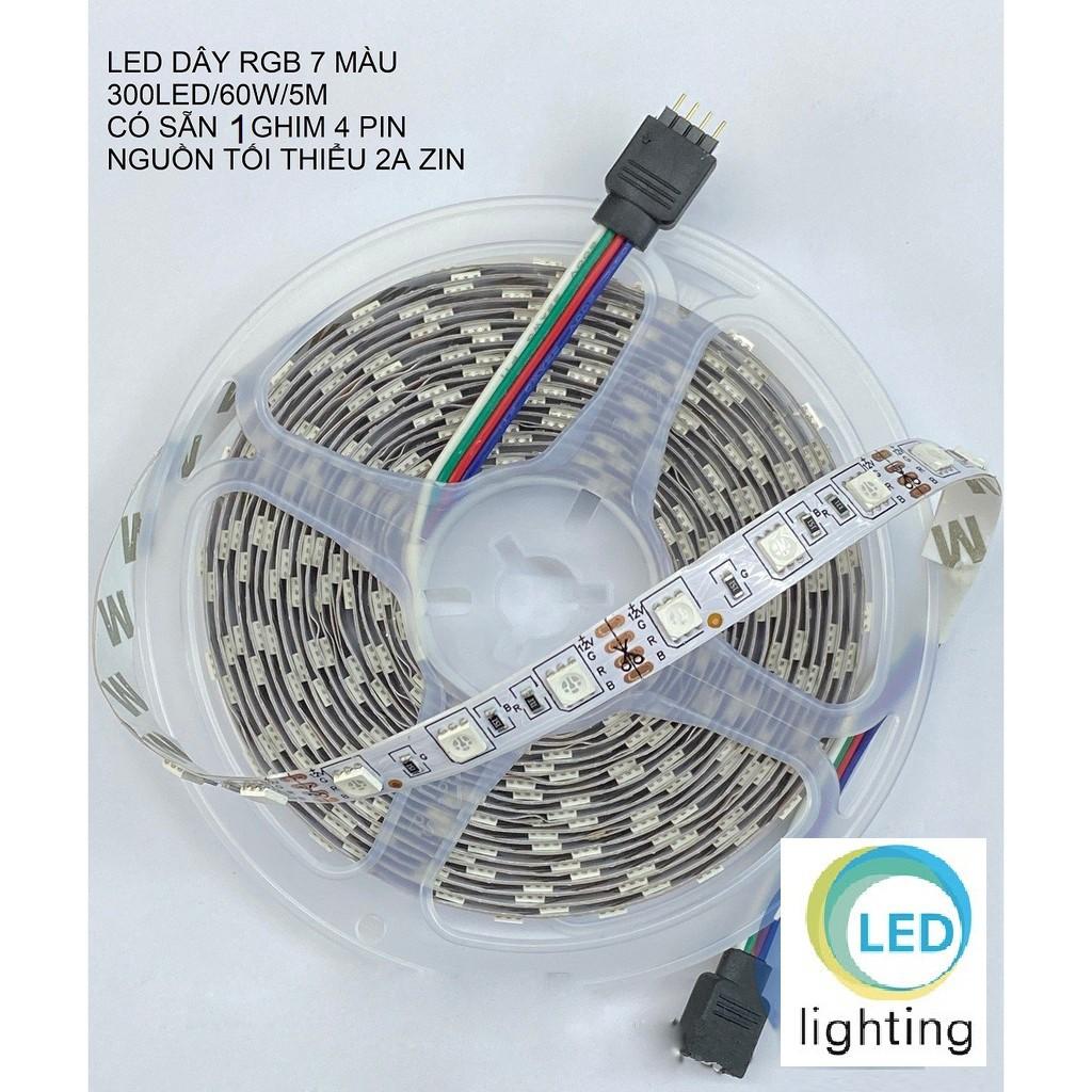 CUỘN LED DÂY RGB 7 MÀU 5050 5M