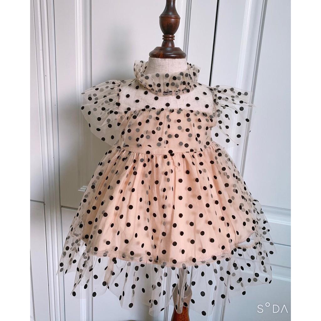 Váy Cho Bé Gái 𝑭𝑹𝑬𝑬𝑺𝑯𝑰𝑷 SU Shop- Váy Chấm Bi - Thời Trang Trẻ Em  Hàng Thiết Kế Cao Cấp Váy Chấm Bi lưới nhung chính hãng 33,320đ